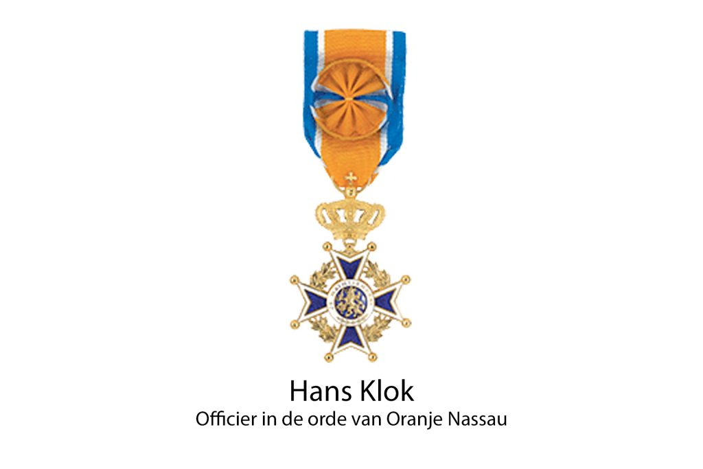 goochelaar hans klok onderscheiding officier in de orde van oranje nassau